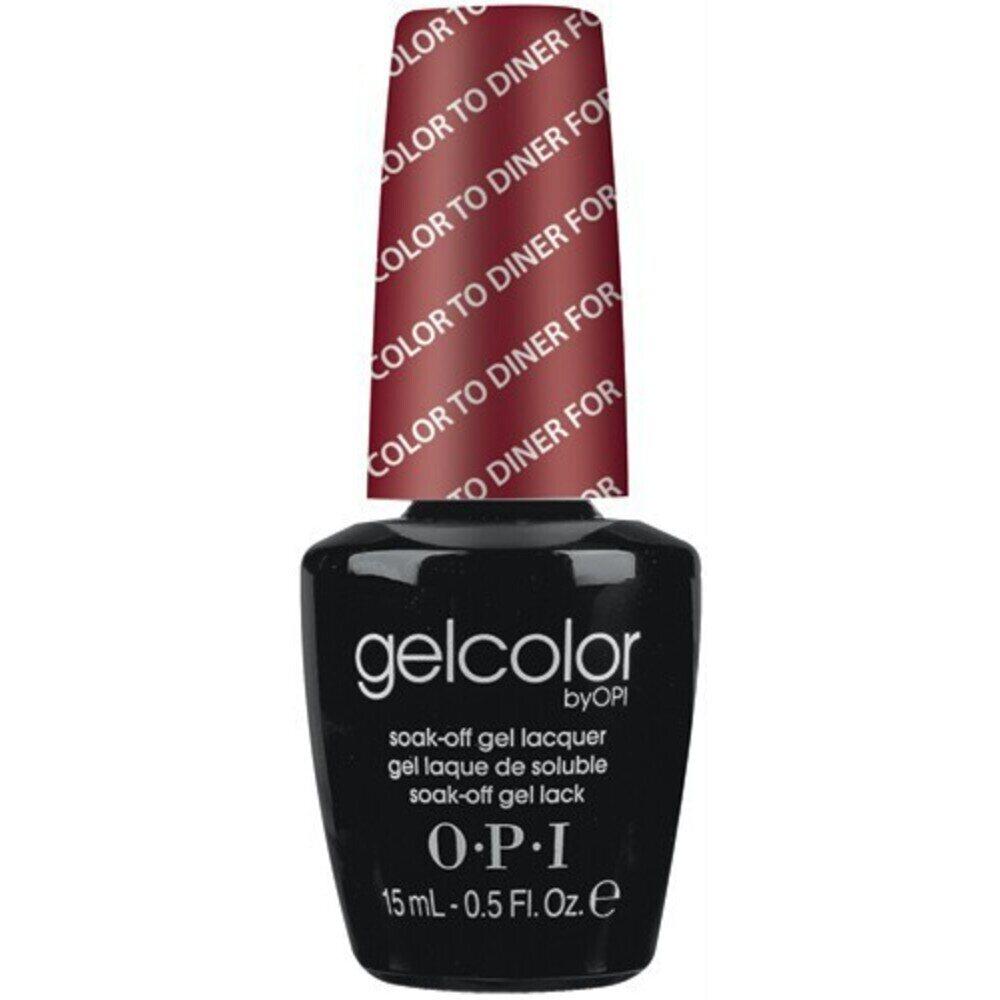 Opi Gelcolor Soak Off Gel Polish Color To Diner For 0 5 Oz Gct25