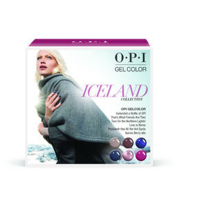 OPI GelColor Soak Off Gel Polish - IceLand Collection - Add-On Kit #1 6 Pieces (GC856)