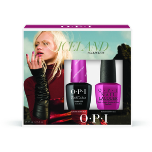 OPI GelColor Soak Off Gel Polish - IceLand Collection - GelColor with Matching Lacquer Duo #1 (GC848)