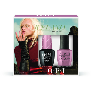 OPI GelColor Soak Off Gel Polish - IceLand Collection - GelColor with Matching Lacquer Duo #2 (GC849)