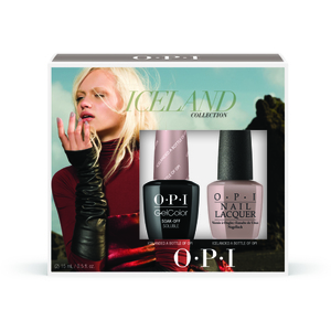 OPI GelColor Soak Off Gel Polish - IceLand Collection - GelColor with Matching Lacquer Duo #3 (GC850)