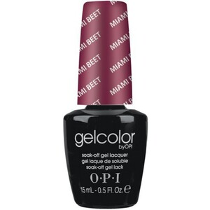 OPI GelColor Soak Off Gel Polish - Miami Beet 0.5 oz. (GCB78)