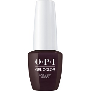 OPI GelColor Soak Off Gel Polish - Small Size .25oz - BLACK CHERRY CHUTNEY 7.5 mL. (GCI43B)