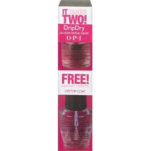 OPI IT TAKES TWO! - OPI Drip Dry 0.3 oz. + OPI Top Coat 0.5 oz. (619828078780)