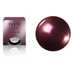 OPI CHROME EFFECTS - Mirror Shine Nail Powder - Pay Me in Rubies 0.1 oz. - 3 grams (CP006)