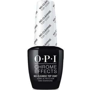 OPI CHROME EFFECTS - Mirror Shine Nail Powder System - No-Cleanse Gel Top Coat 0.5 oz. (CPT30)