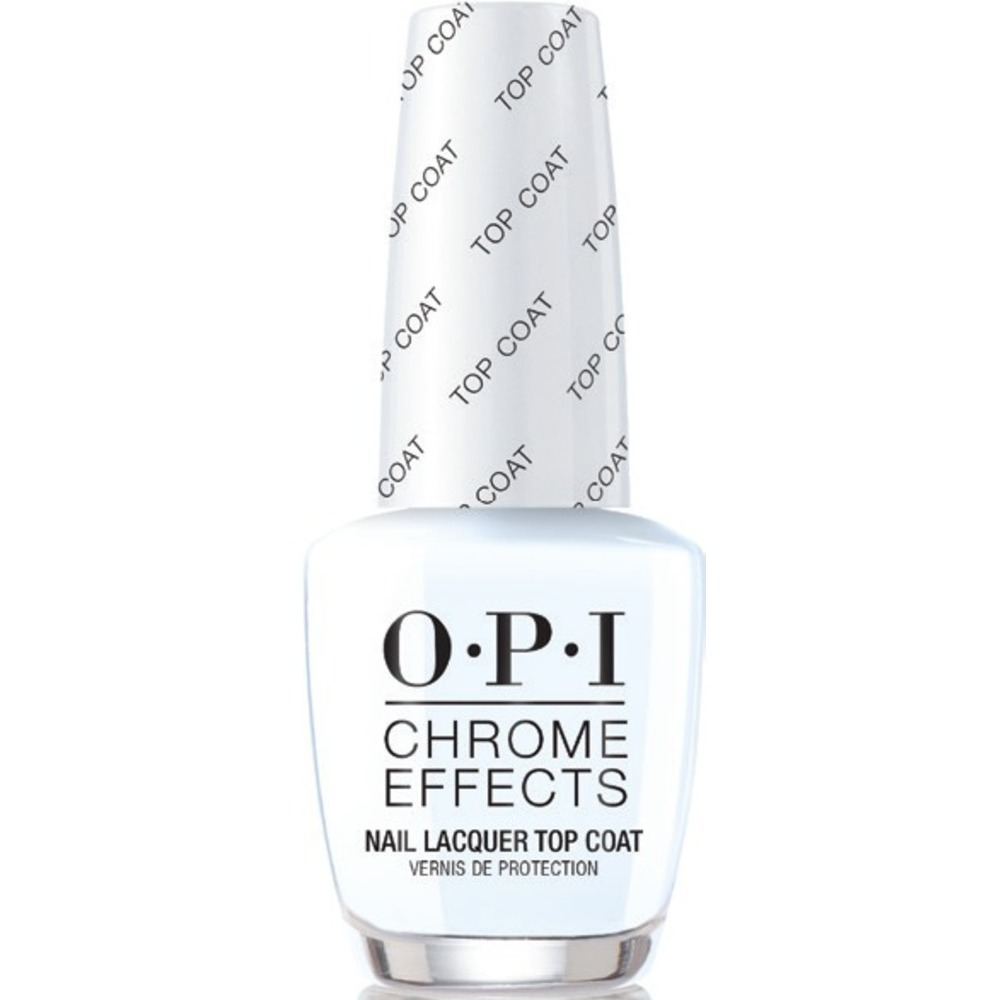 Opi Chrome Effects Mirror Shine Nail Powder System Lacquer Top Coat 0 5 Oz Cpt31