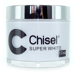 Chisel 2-in-1 Acrylic & Dipping Powder - 12 OZ. REFILL SIZE - SUPER WHITE 12 oz. ()