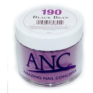 ANC Dip Powder - BLACK BEAN #190 2 oz. - part of the ANC Acrylic Nails Dipping System (#190)