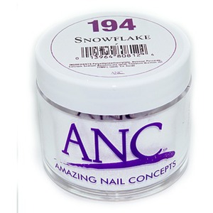 ANC Dip Powder - SNOWFLAKE #194 2 oz. - part of the ANC Acrylic Nails Dipping System (#194)