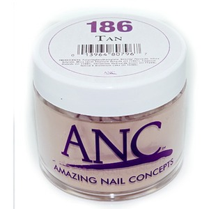 ANC Dip Powder - TAN #186 2 oz. - part of the ANC Acrylic Nails Dipping System (#186)