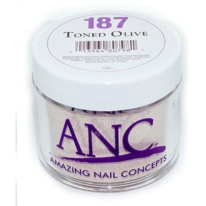 ANC Dip Powder - TONED OLIVE #187 2 oz. - part of the ANC Acrylic Nails Dipping System (#187)