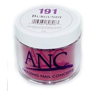ANC Dip Powder - BURGUNDY #191 2 oz. - part of the ANC Acrylic Nails Dipping System (#191)