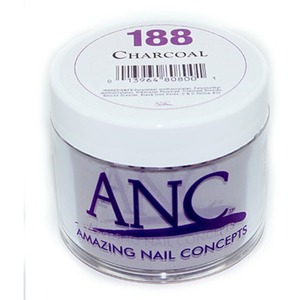 ANC Dip Powder - CHARCOAL #188 2 oz. - part of the ANC Acrylic Nails Dipping System (#188)