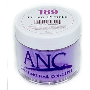 ANC Dip Powder - GANZI PURPLE #189 2 oz. - part of the ANC Acrylic Nails Dipping System (#189)