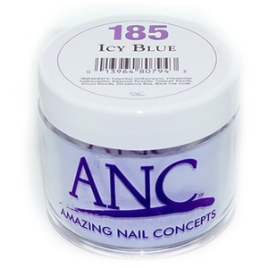 ANC Dip Powder - ICY BLUE #185 2 oz. - part of the ANC Acrylic Nails Dipping System (#185)