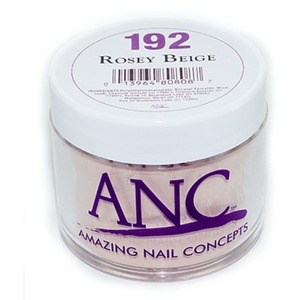 ANC Dip Powder - ROSEY BEIGE #192 2 oz. - part of the ANC Acrylic Nails Dipping System (#192)