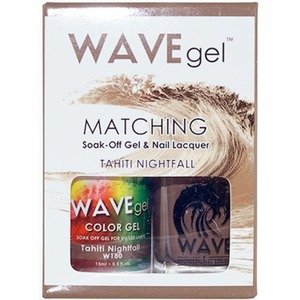 WaveGel Matching Soak Off Gel Polish & Nail Lacquer - TAHITI NIGHTFALL W180 0.5 oz. Each (WG180)