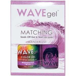 WaveGel Matching Soak Off Gel Polish & Nail Lacquer - WANDERLUST W185 0.5 oz. Each (WG185)