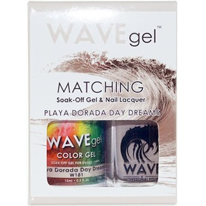 WaveGel Matching Soak Off Gel Polish & Nail Lacquer - PLAYA DORADA DAY DREAMS W181 0.5 oz. Each (WG181)