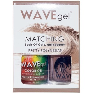 WaveGel Matching Soak Off Gel Polish & Nail Lacquer - PRETTY POLYNESIAN W178 0.5 oz. Each (WG178)
