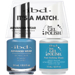 IBD Its a Match Duo - #66682 - POST HOLIDAY BLUES a Matching Set - (1) Advanced Wear Pro Lacquer 0.5 oz. + (1) Just Gel Polish 0.5 oz. (24782)