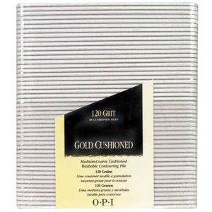OPI Gold Cushioned File - 120 Grit Pack of 48 (FI271)