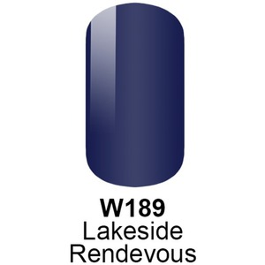 WaveGel Matching Soak Off Gel Polish & Nail Lacquer - LAKESIDE RENDEVOUS - W189 0.5 oz. Each (W189)