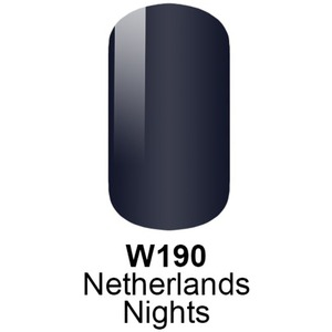 WaveGel Matching Soak Off Gel Polish & Nail Lacquer - NETHERLANDS NIGHTS - W190 0.5 oz. Each (W190)