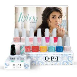 OPI GelColor Soak Off Gel Polish - Lisbon Collection - 14 Piece Display (12 Colors + Base +Top) (GC768)