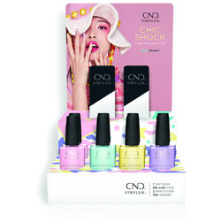 CND Vinylux - Chick Shock Collection - 10 Piece POP Display - 7 Day Air Dry Nail Polish (767180)