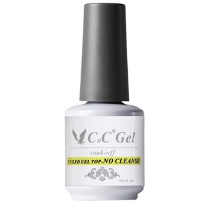 CnC Soak-Off Gel Top No Cleanse - Compatible with ANY Soak Off Gel Polish Brand! 0.5 oz. (17614-Top No Cleanse)