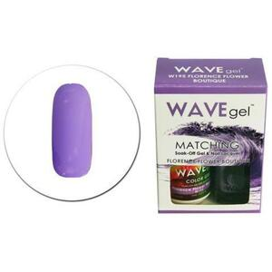 WaveGel Matching Soak Off Gel Polish & Nail Lacquer - W195 - Florence Flower Boutique 0.5 oz. Each (11490-W195)