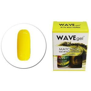 WaveGel Matching Soak Off Gel Polish & Nail Lacquer - W196 - Wild Tigress 0.5 oz. Each (11490-W196)