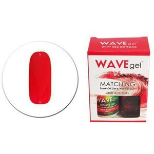 WaveGel Matching Soak Off Gel Polish & Nail Lacquer - W197 - Red Bottom 0.5 oz. Each (11490-W197)