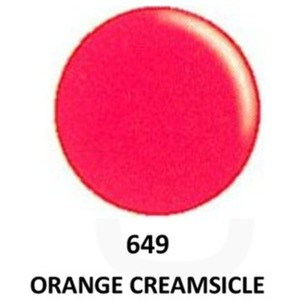 DND Duo GEL Pack - G649 Orange Creamsicle 1 Gel Polish 0.47 oz. + 1 Lacquer 0.47 oz. in Matching Color (23615649)