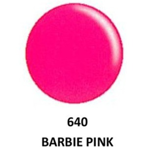 DND Duo GEL Pack - G640 Barbie Pink 1 Gel Polish 0.47 oz. + 1 Lacquer 0.47 oz. in Matching Color (23615640)