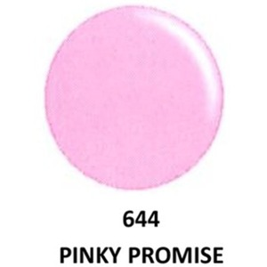 DND Duo GEL Pack - G644 Pinkie Promise 1 Gel Polish 0.47 oz. + 1 Lacquer 0.47 oz. in Matching Color (23615644)
