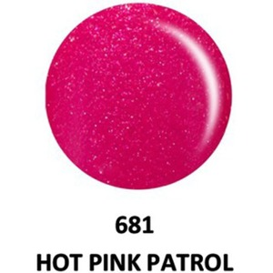 DND Duo GEL Pack - G681 Hot Pink Patrol 1 Gel Polish 0.47 oz. + 1 Lacquer 0.47 oz. in Matching Color (23615681)