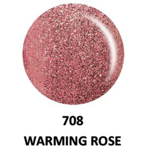 DND Duo GEL Pack - G708 Warming Rose 1 Gel Polish 0.47 oz. + 1 Lacquer 0.47 oz. in Matching Color (23615708)