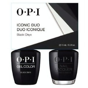 OPI Iconic Duo - GelColor + Nail Lacquer - SRJ67 (T02) - Black Onyx 0.5 oz. Each (SRJ67 - T02)