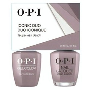 OPI Iconic Duo - GelColor + Nail Lacquer - SRJ68 (A61) - Taupe-less Beach 0.5 oz. Each (SRJ68 - A61)