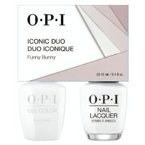 OPI Iconic Duo - GelColor + Nail Lacquer - SRJ70 (H22) - Funny Bunny 0.5 oz. Each (SRJ70 - H22)
