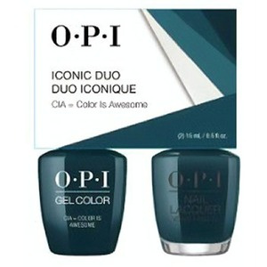 OPI Iconic Duo - GelColor + Nail Lacquer - SRJ71 (W53) - CIA = Color Is Awesome 0.5 oz. Each (SRJ71 - W53)
