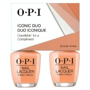 OPI Iconic Duo - GelColor + Nail Lacquer - SRJ72 (N58) - Crawfishin Compliment 0.5 oz. Each (SRJ72 - N58)