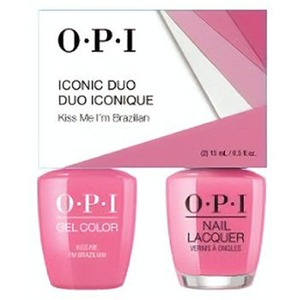OPI Iconic Duo - GelColor + Nail Lacquer - SRJ73 (A68) - Kiss Me I'm Brazilian 0.5 oz. Each (SRJ73 - A68)