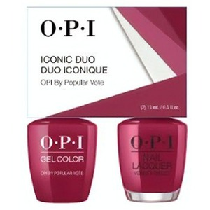 OPI Iconic Duo - GelColor + Nail Lacquer - SRJ74 (W63) - OPI By Popular Vote 0.5 oz. Each (SRJ74 - W63)