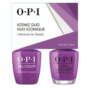 OPI Iconic Duo - GelColor + Nail Lacquer - SRJ75 (N54) - I Manicure for Breads 0.5 oz. Each (SRJ75 - N54)