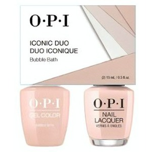 OPI Iconic Duo - GelColor + Nail Lacquer - SRJ59 (S86) - Bubble Bath 0.5 oz. Each (SRJ59 - S86)