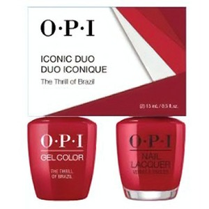 OPI Iconic Duo - GelColor + Nail Lacquer - SRJ60 (A16) - The Thrill of Brazil 0.5 oz. Each (SRJ60 - A16)